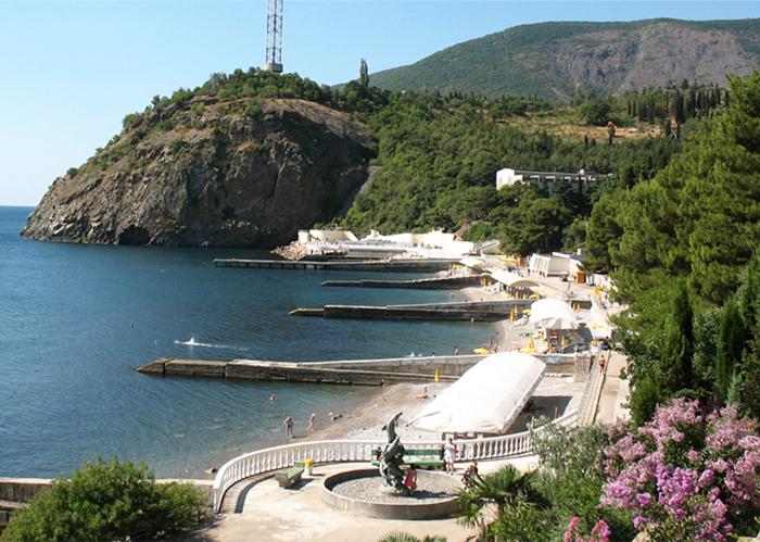 Existing Beach, Landscape Design, Hotel, Yalta